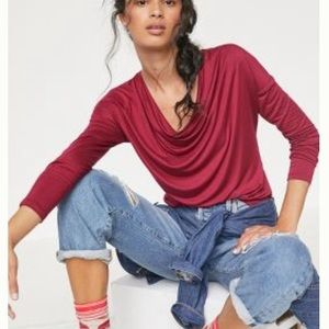 NWT Anthropologie Maeve Lisa Cowl Neck Top